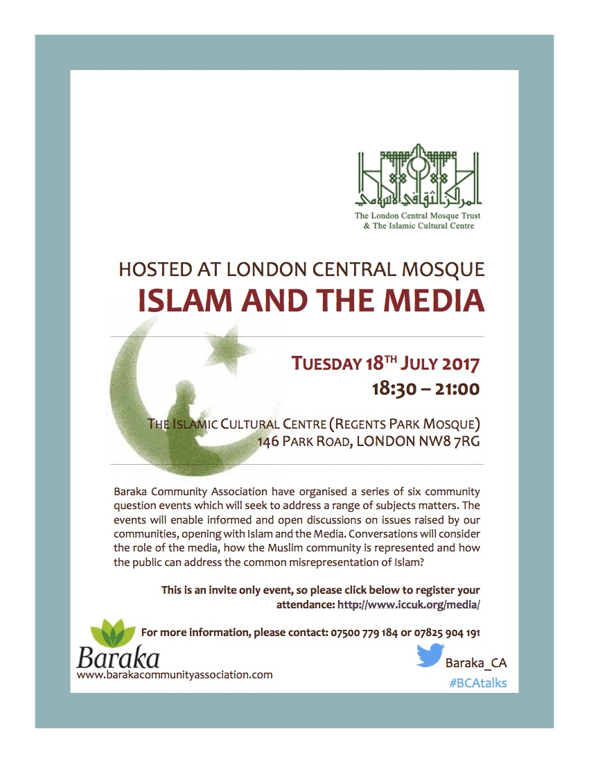 Islam and the Media Leaflet (July 17)