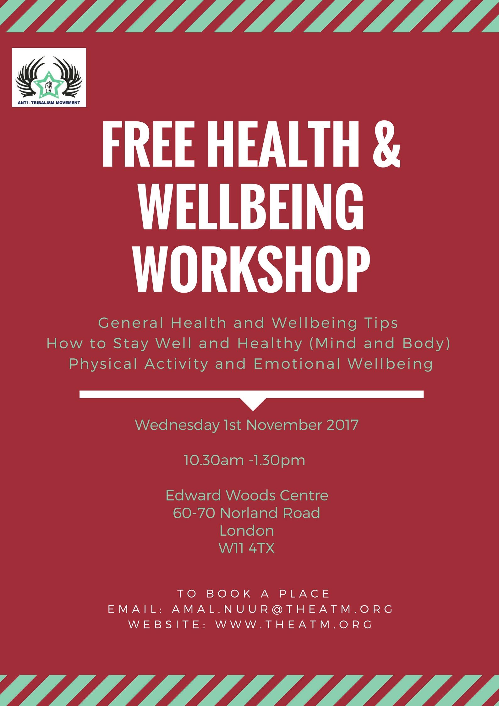 Health & Wellbeing workshop