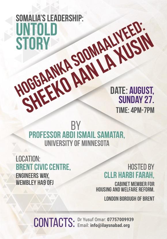 Somalia's leadership Poster - Anti Tribalism Movement : The ATM